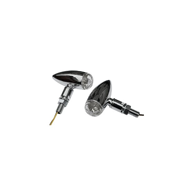 P&W Blinklys sæt - Micro Bullet LED Chrome