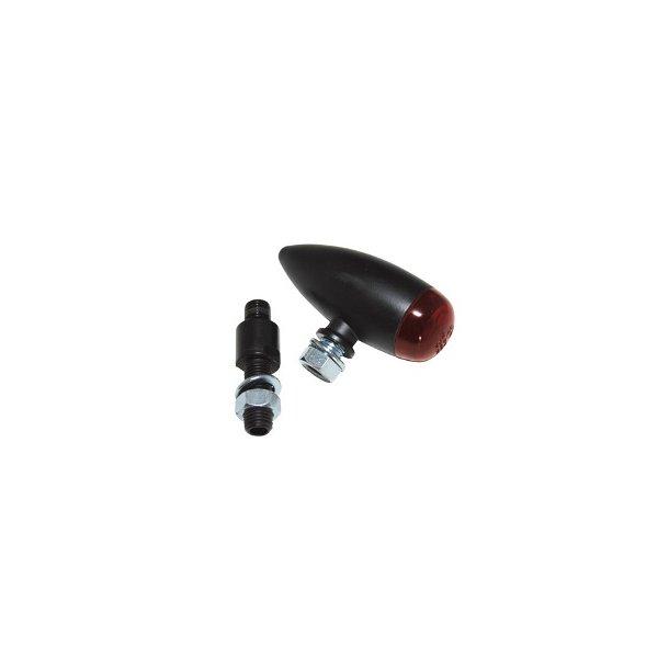P&W - LED Micro-Bullet baglygte Sort