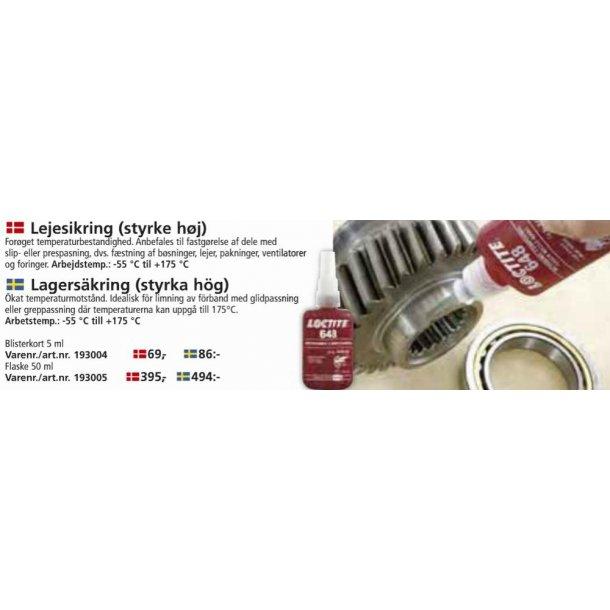 Loctite - Lejesikring Høj styrke