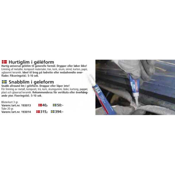Loctite - Hurtiglim i gele form 3 gram