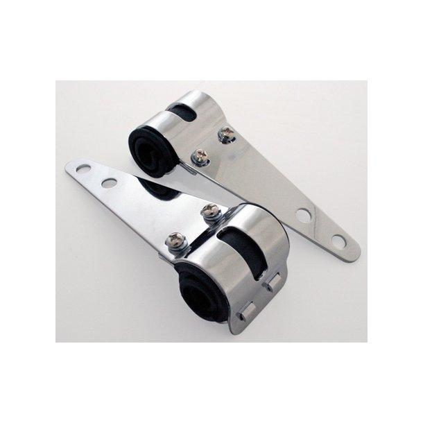 Lygteholdere P&W - Chrome 30-38mm