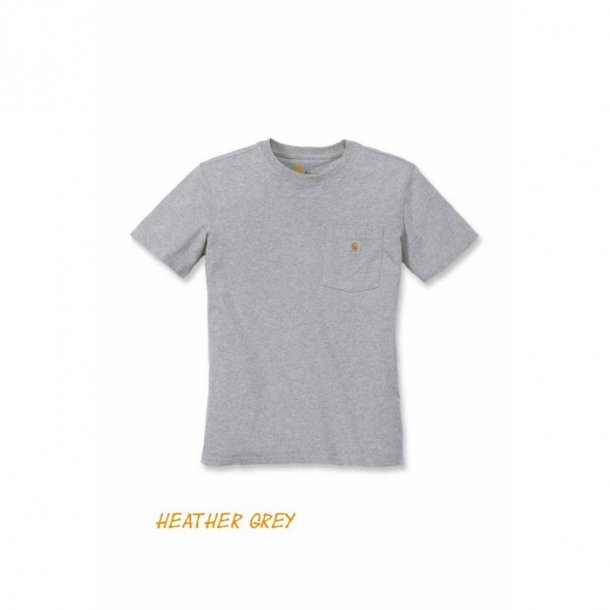 Carhartt Pocket T shirt Dame Heater Grey
