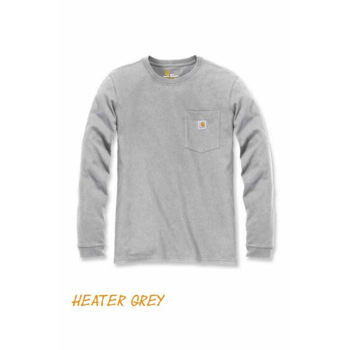 Carhartt Pocket Langærmet T shirt Dame Heater Grey