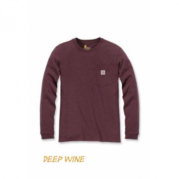 Carhartt Pocket Langærmet T shirt Dame Deep Wine