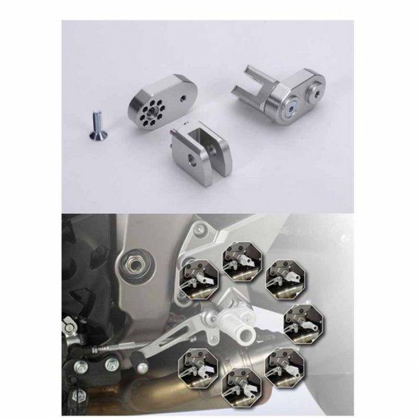 LSL Justerbar Fodhviler Adapter Front Yamaha Modeller